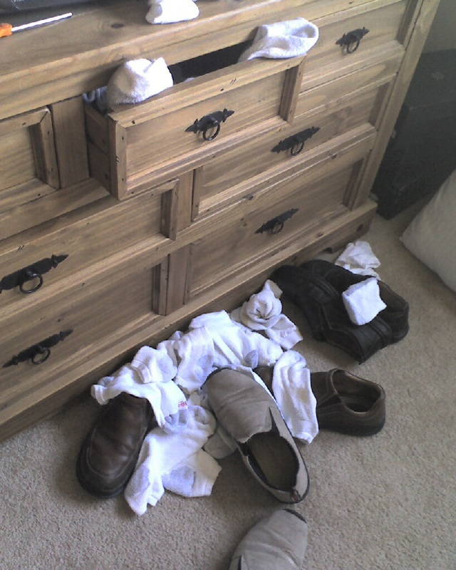 When your sock drawer is open JUST enough